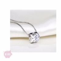 Dây chuyền bạc 925 đá pha lê trái tim cao cấp thời trang - BH268