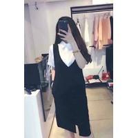 Set áo SM tay ngắn + yếm suông - 5585.SETZO