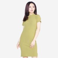 Áo váy đầm len mỏng dáng form dài midi ngắn tay cổ tròn ZENKO CS3