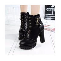 Giày boot nữ phong cách cá tính B052