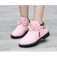 Giày bốt cho bé gái Z-18 hồng