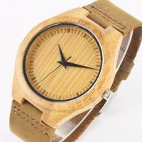 Đồng hồ vỏ gỗ dây da bò DSA343