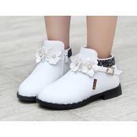 Giày bốt cho bé gái Z-18 trắng