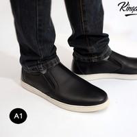 Giày slipon da sần - da bò thật độc quyền tại kingdom shoes