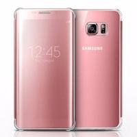Bao da Samsung-Galaxy S6 Edge Clear View màu hồng