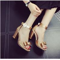 Giày sandal cao gót hàn quốc dễ thương