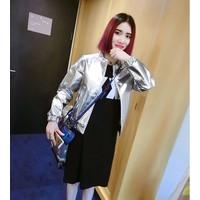 Áo khoác jacket da bóng Mã: AO2625 - BẠC