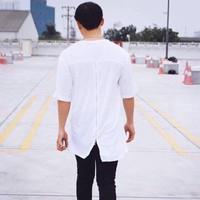 áo thun zip lưng unisex nam nữ