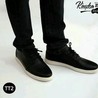 Giày cao 5cm da sần đen trắng classic siêu đẹp