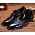 Giày tây mũi da bóng cột dây