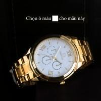 Đồng hồ  kim dạ quang vỏ inox OM01