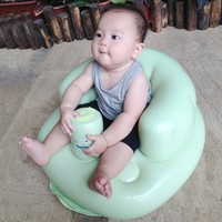 Ghế hơi bơm tự động tập ngồi cho bé