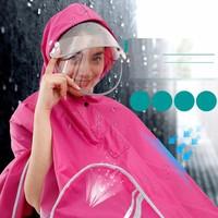 Áo mưa đôi có kính che và khẩu trang chống nước
