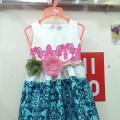 Váy gấm dây lưng hoa cực đẹp