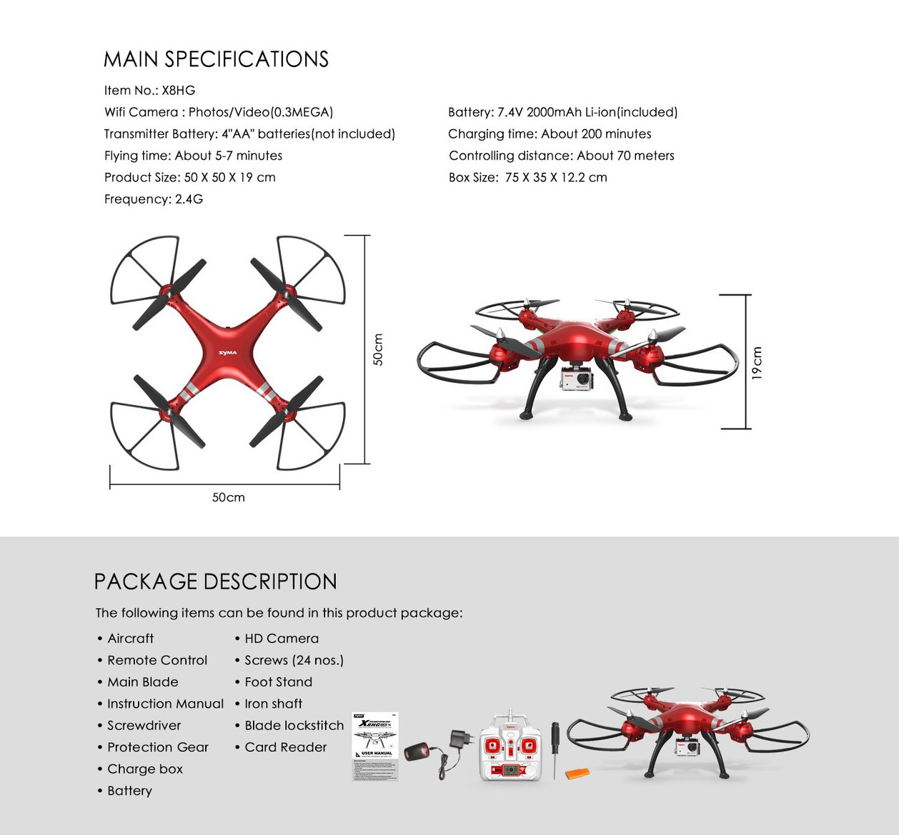 Flycam Syma X8HG 4
