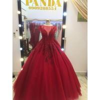 áo cưới đỏ ren đẹp sang trọng