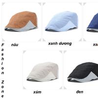 mũ bê rê Hàn Quốc nón Newsboy thu đông vành cong phía trước