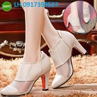 Giày Boot cao gót nữ cao cấp mới hàng xuất khẩu L12H129