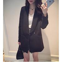 Áo khoác blazer nữ cá tính Mã: AO2274 - ĐEN