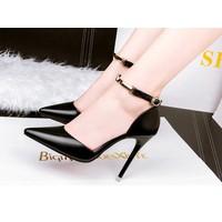 Giày gót nhọn thanh lịch - màu đen