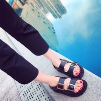 Giày sandals 2 khóa đế doctor SDQN59