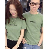 140k 1 cặp áo thun Nam Nữ Good day MS329