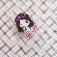 Ốp lưng silicon iPhone 6-6S hình cô gái bông hoa dễ thương mẫu 6