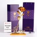 Hoa Hồng 3D Mạ Vàng Đế Love