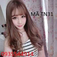Tóc nữ mái thưa xoăn nhẹ Hàn Quốc TN31