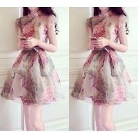 Đầm voan họa tiết hoa cao cấp