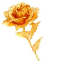 Hoa hồng 3D mạ vàng không hộp