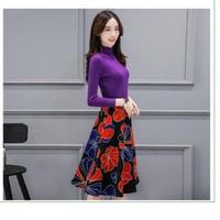 HÀNG NHẬP - SET LEN VÀ CHÂN VÁY HOA CỰC XINH