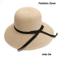 nón rộng vành nữ mũ rơm dạo biển thời trang nón vành chống UV