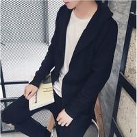 Áo cardigan len nam dáng dài cực chất 2016