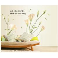 Decal hoa ly lãng mạng