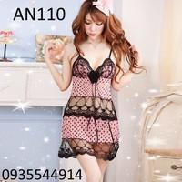 Váy ngủ phối ren AN110