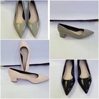 Giày mũi nhọn 3cm xi bóng
