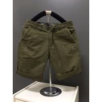 KX10 - Quần short kaki nam form body xước màu xanh rêu hàng cao cấp