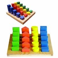 Bộ đồ chơi thông minh bảng khối trụ học đếm và so sánh Alengkeng MT7