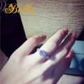 Nhẫn nữ thời trang bạc 925 cao cấp gắn đá Cubic tròn