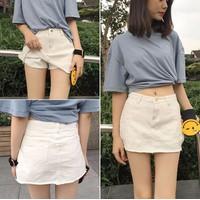 Quần jeans giả váy nữ dạo phố - 5437 - Hàng Nhập