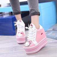 Giày nữ Hello Kitty nâng đế dễ thương Hàn Quốc - SG0365