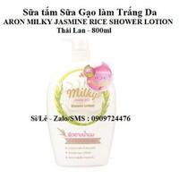 Sữa tắm Sữa gạo ARON MILKY JASMINE RICE SHOWER LOTION 800ml Thái Lan