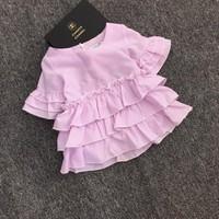 áo kiểu điệu đà cho bé gái 1-8 tuổi