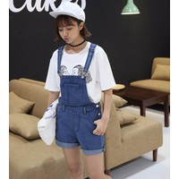 Quần short jeans yếm Mã: QN709 - XANH