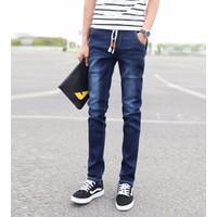 Quần jeans lưng thun túi nút Mã: ND0613 - XANH ĐẬM