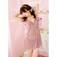 Váy Ngủ Xuyên Thấu Ren Hoàng Tộc MS618