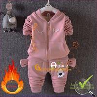 Bộ quần áo giữ ấm bé gái bé trai đẹp GLSET011 gấu ngủ đông
