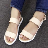 Salw off - Giày sandals đi mưa màu nude SDQN45