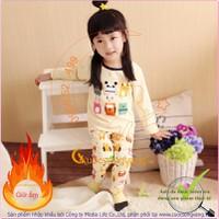 Bộ quần áo giữ ấm bé gái bé trai lót lông GLSET021